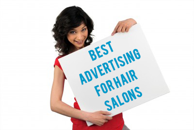 Girl with Advertising banner