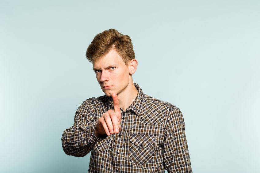 no forbidden don't serious frown man hand gesture