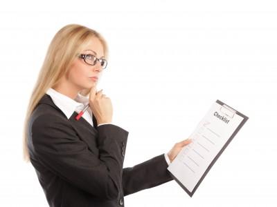 Girl with Website Design Checklist